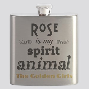 Rose is My Spirit Animal Flask
