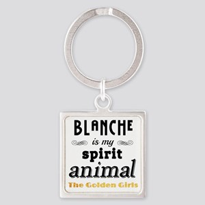 Blanche is My Spirit Animal GG Square Keychain