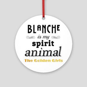 Blanche is My Spirit Animal GG Round Ornament