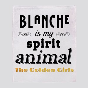 Blanche is My Spirit Animal GG Throw Blanket
