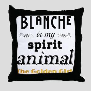 Blanche is My Spirit Animal GG Throw Pillow