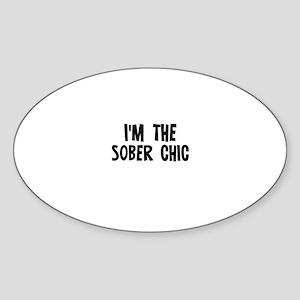 I'm the Sober Chic Oval Sticker