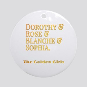 Dorothy Blanche Rose Sophia Round Ornament