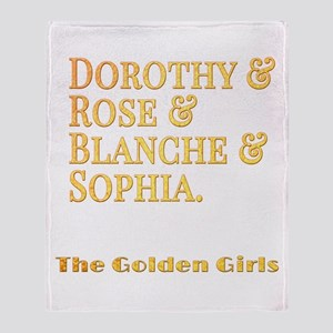 Dorothy Blanche Rose Sophia Throw Blanket
