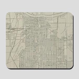 Vintage Map of Savannah Georgia (1917) Mousepad