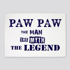 PAW PAW THE MAN MYTH LEGEND 5'x7'Area Rug