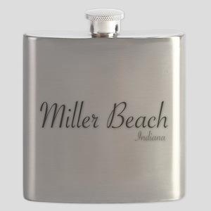 Miller Beach Logo Flask