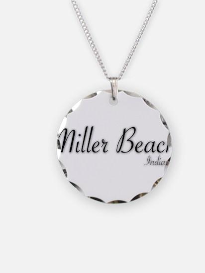 Miller Beach Logo Necklace