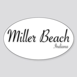 Miller Beach Logo Sticker (oval)