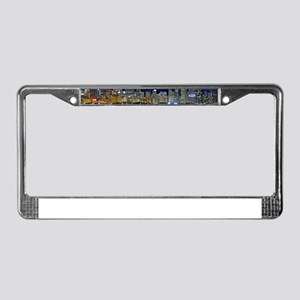 Spacey Chicago Skyline License Plate Frame
