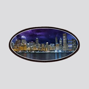 Spacey Chicago Skyline Patch