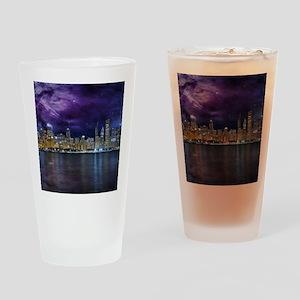 Spacey Chicago Skyline Drinking Glass