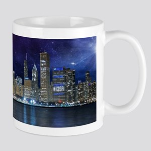 Spacey Chicago Skyline Mugs