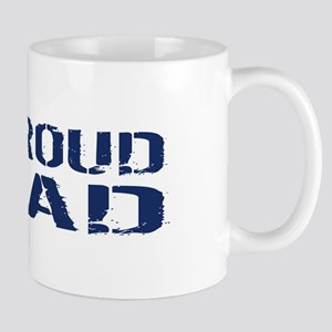 U.S. Navy: Proud Dad (Blue & White) Mug