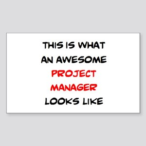 awesome project manager Sticker (Rectangle)