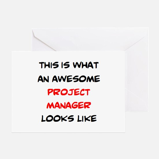 awesome project manager Greeting Card
