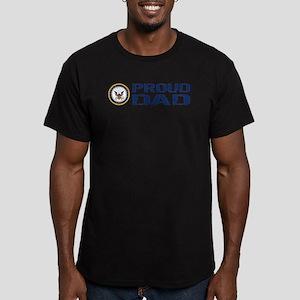 U.S. Navy: Proud Dad ( Men's Fitted T-Shirt (dark)