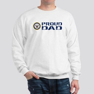 U.S. Navy: Proud Dad (Blue) Sweatshirt