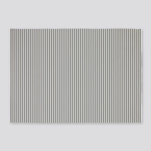 Black White and Ivory Stripes by LH 5'x7'Area Rug
