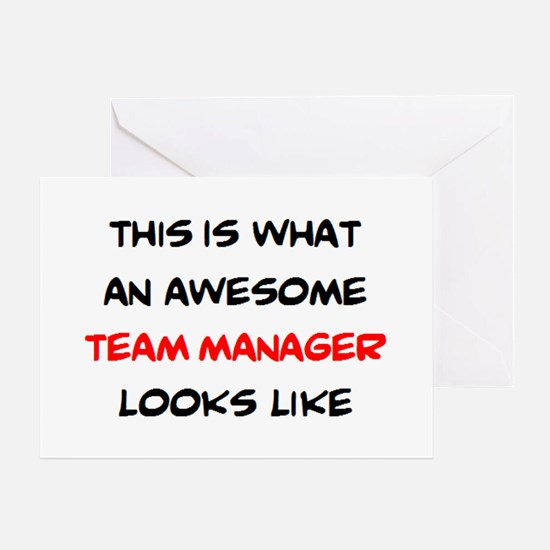 awesome team manager Greeting Card