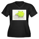 The Turtle Women's Plus Size V-Neck Dark T-Shirt