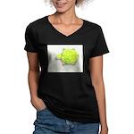 The Turtle Women's V-Neck Dark T-Shirt