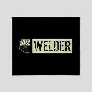 Welder: Arizona Flag & State Shape ( Throw Blanket