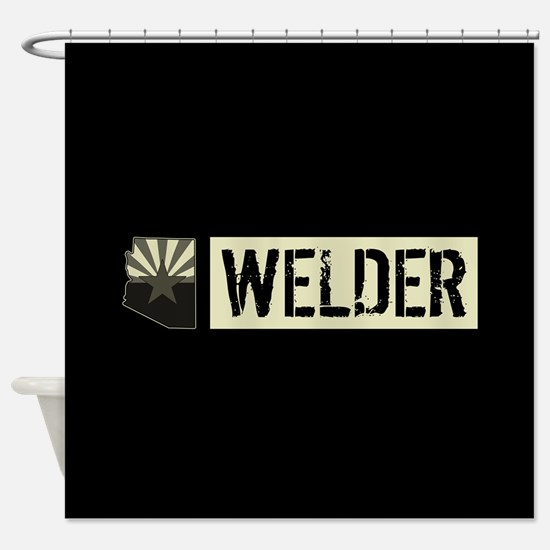 Welder: Arizona Flag & State Shape Shower Curtain