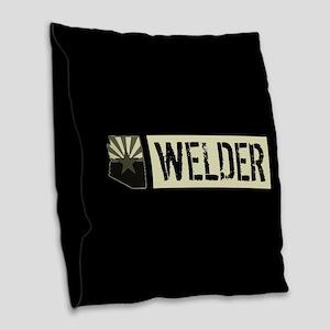 Welder: Arizona Flag & State S Burlap Throw Pillow