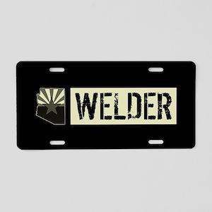 Welder: Arizona Flag & Stat Aluminum License Plate