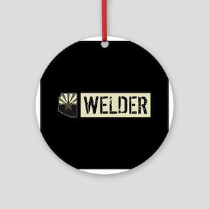 Welder: Arizona Flag & State Shape Round Ornament