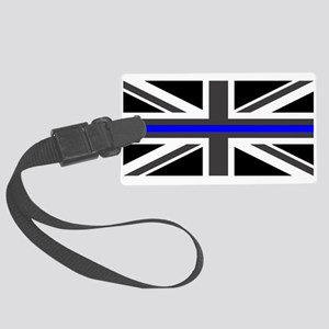 Police: British Flag & The Thin Large Luggage Tag