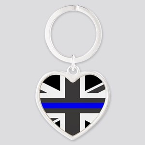 Police: British Flag & The Thin Blu Heart Keychain