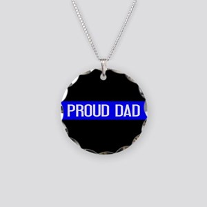 Police: Proud Dad (The Thin Necklace Circle Charm