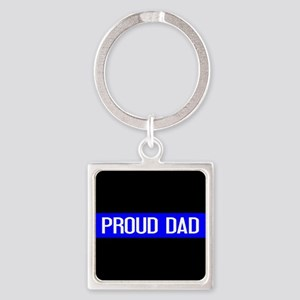 Police: Proud Dad (The Thin Blue L Square Keychain