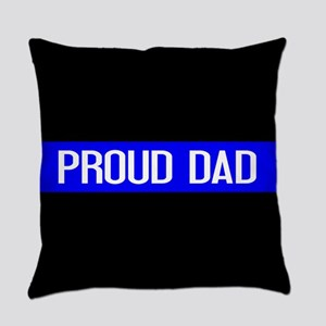 Police: Proud Dad (The Thin Blue L Everyday Pillow