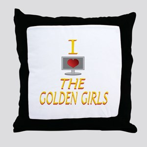 I Love The Golden Girls Throw Pillow