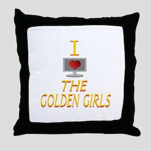 I Love The Golden Girls Throw Pillow