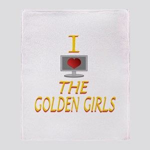 I Love The Golden Girls Throw Blanket