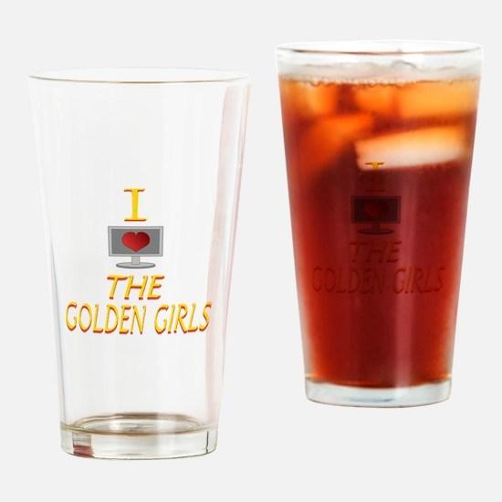 I Love The Golden Girls Drinking Glass