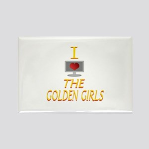 I Love The Golden Girls Rectangle Magnet