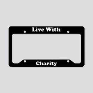 Live With Charity License Plate Holder