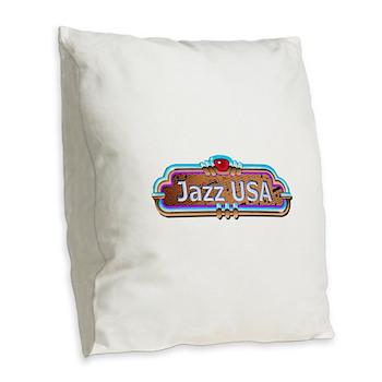 JazzUSA Burlap Throw Pillow