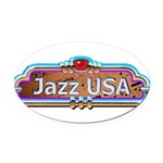 JazzUSA Oval Car Magnet
