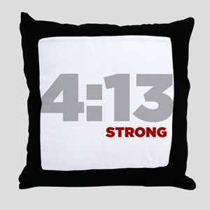 PHILIPPIANS 4:13 Strong Throw Pillow