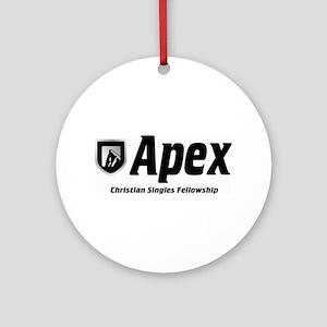 Apex Christian Singles Fellowship Round Ornament