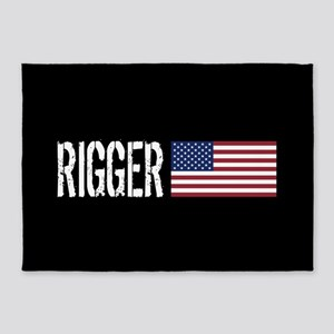 Rigger: Rigger & American Flag 5'x7'Area Rug