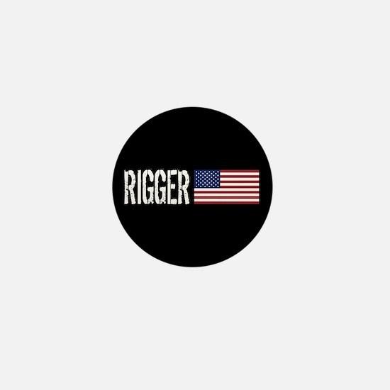 Rigger: Rigger & American Flag Mini Button