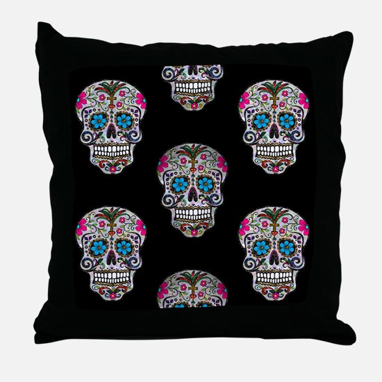 Cute Sugar skulls Throw Pillow