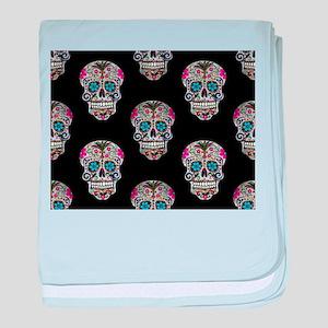 sequin Sugar Skulls baby blanket